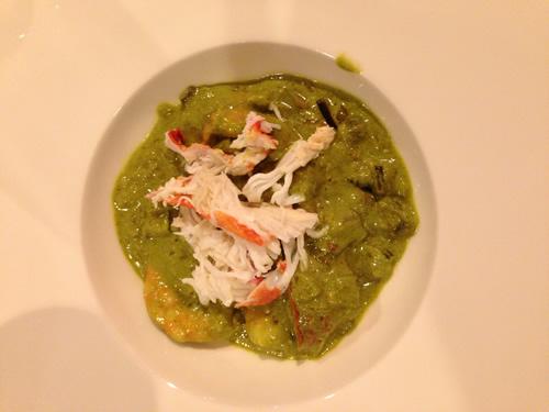 El curry verde de langostinos con carne de cangrejo del de verdad (todavia se me cae la lagrimilla)