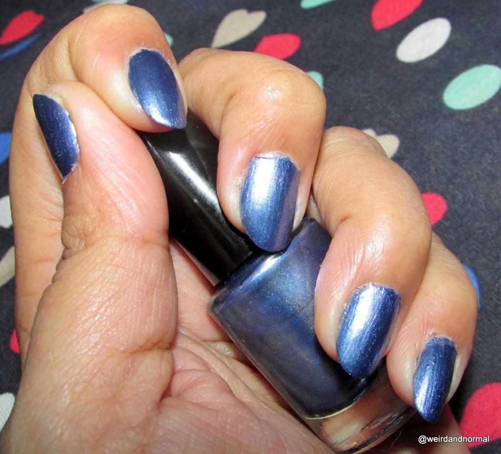 Oriflame Very Me Metallic Nail Polish - Blue Passion Review - Miss ...
