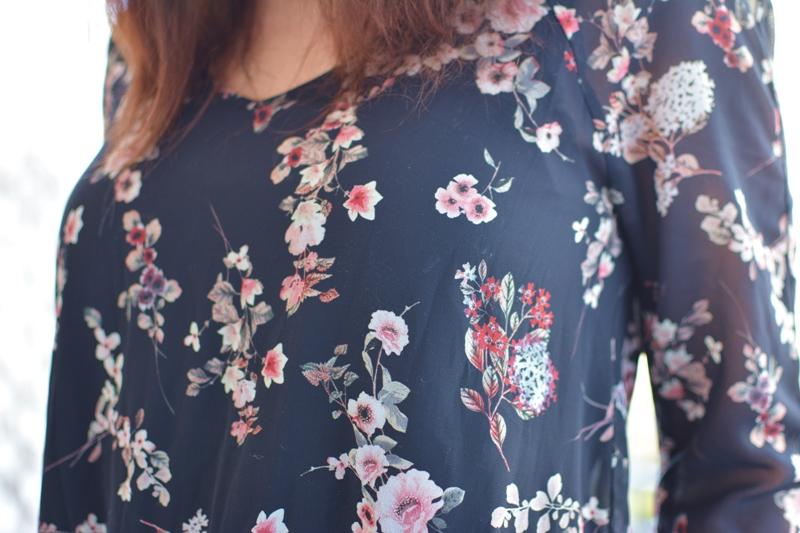Tunika kleid mit blumenprint