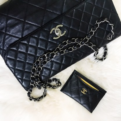 "Chanel ""In the Business"" Flap (Lambskin with silver hardware)"