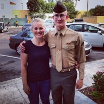 Brother graduating from Marine Boot Camp