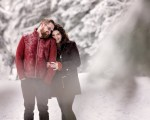 Lindsey and Hunter's Snowy Engagement Session