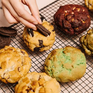 all cookie flavours on rack