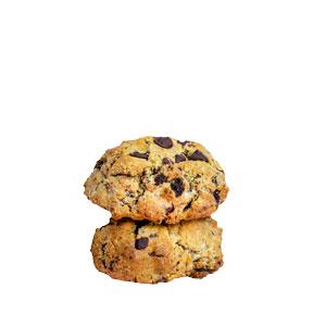 2 chunky choc chip cookies