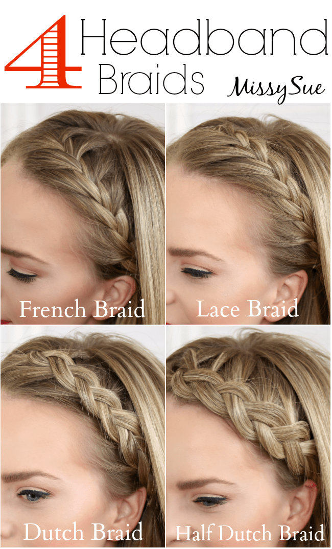 hair styles braids step by step four headband braids 3373