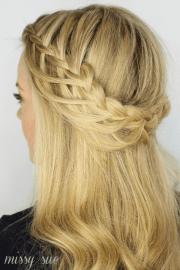looped crown braid