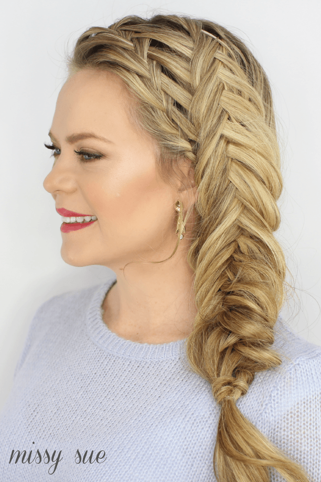 Waterfall Inverted Side Fishtail Braid Missy Sue