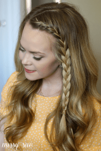 front french braid Archives | MISSY SUE