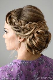 looped braid updo