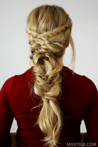 topsy tail braid hairstyles fishtail topsy tail pony