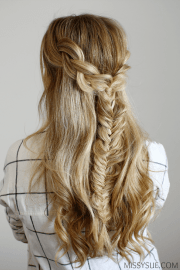 braids and fishtail