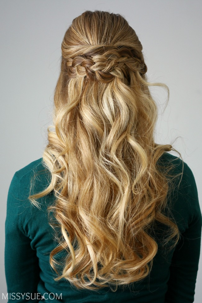 Braid Embellished Half Updo Missy Sue