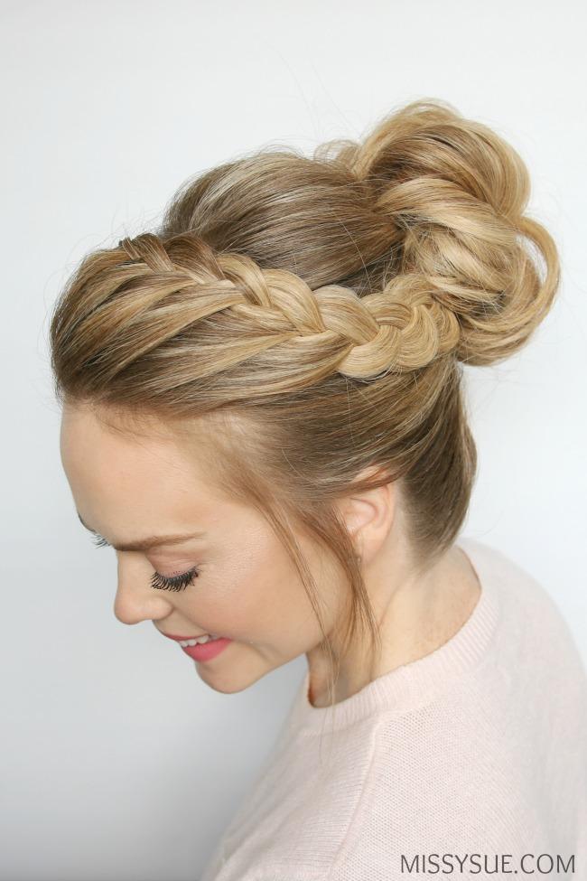 Wondrous Double Lace Braid High Bun Missy Sue Bloglovin39 Short Hairstyles For Black Women Fulllsitofus