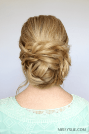 braid and bun updo missy