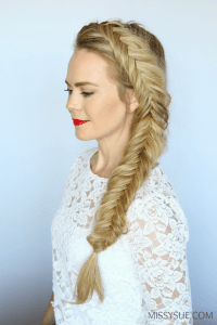 How to Dutch Fishtail Braid | MISSY SUE