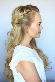 french braid crown missy