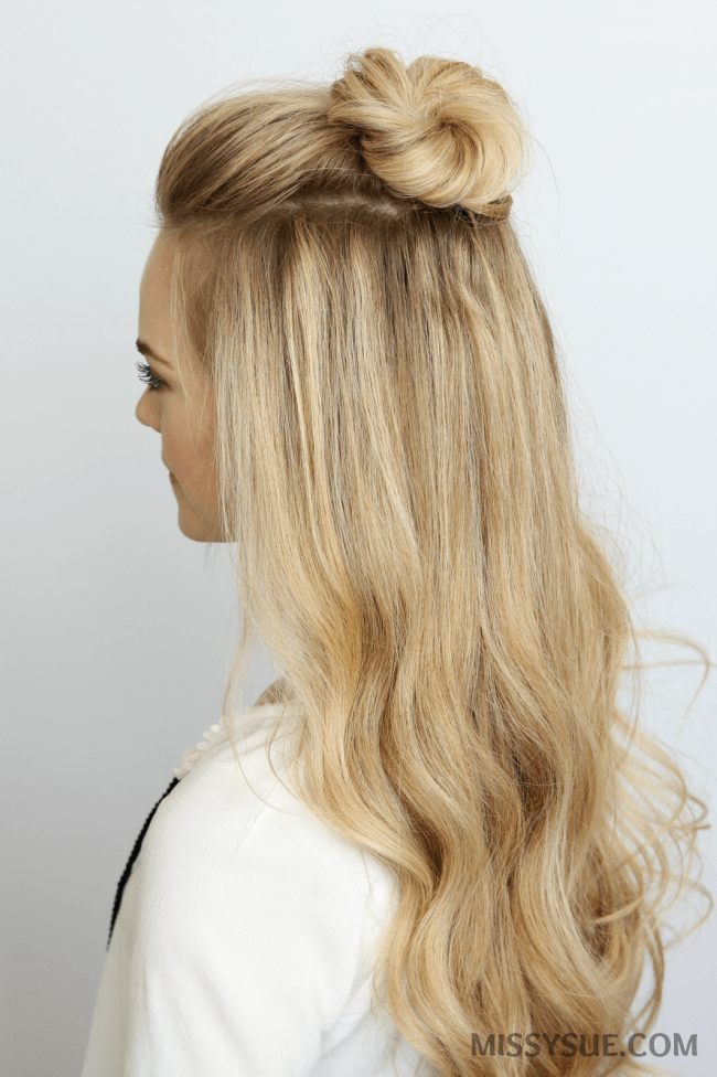 hair buns styles long hair 5 summer mini bun hairstyles sue 7588 | half up mini bun hairstyle