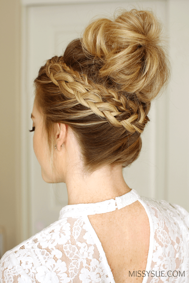braided bun hairstyle instructions braided bun hairstyle