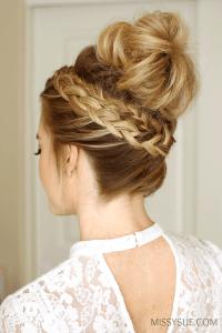 braided bun hairstyle instructions braided bun hairstyle