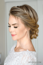 french fishtail braid updo missy