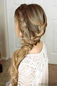 Braided Side Swept Prom Hairstyle | MISSY SUE