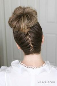 Upside Down French Braid High Bun | Fsetyt com