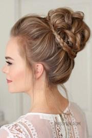 high-bun-braid-accent-hairstyle-14