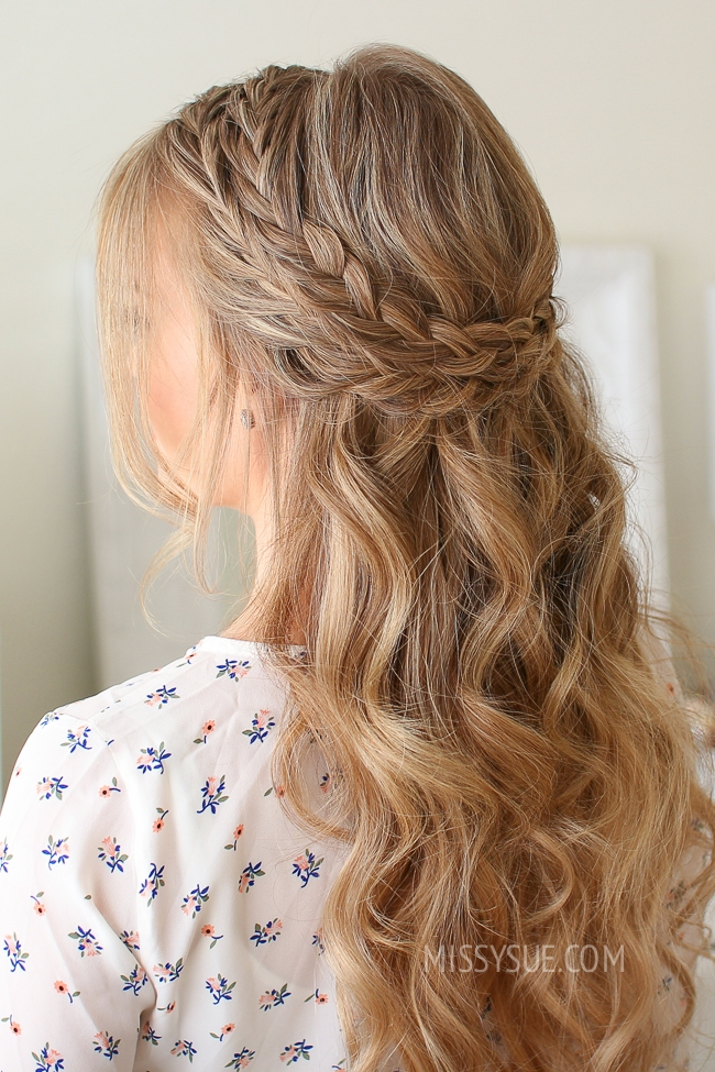 Half Up Double Wrapped Braids  OBSiGeN