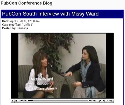 PubCon South '09 Interview Picture