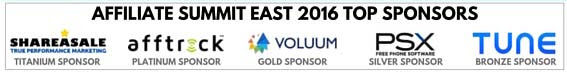 Affiliate Summit East 2016 Top Sponsors