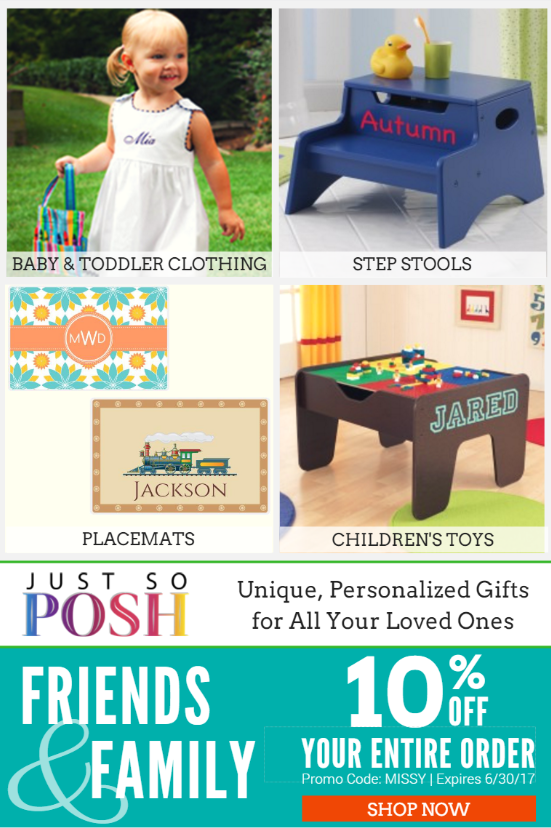 JustSoPosh | Save 10% on Personalized Gifts for Loved Ones