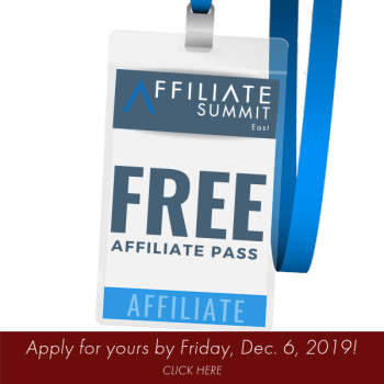 Free Affiliate Pass Affiliate Summit West 2020 ASW20