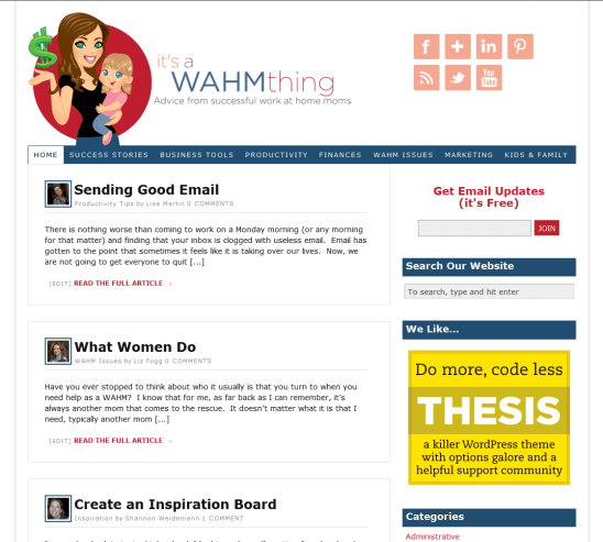 itsaWAHMthing.com home page