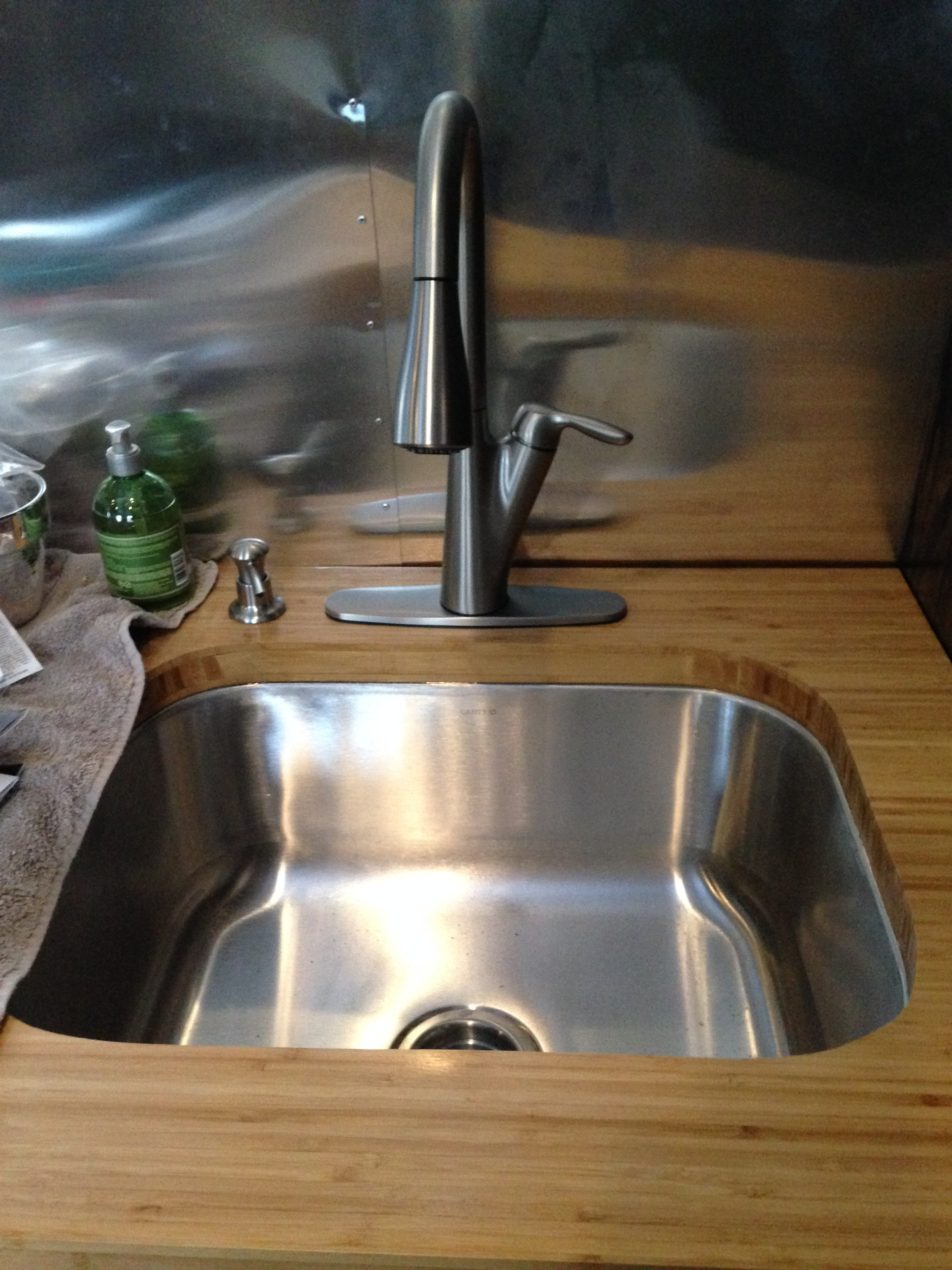 Plumbing Airstream Trailer Complete Renovation