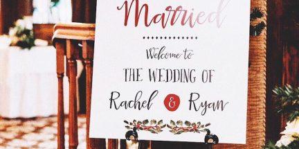 Ryan-and-Rachel-Welcome-Sign