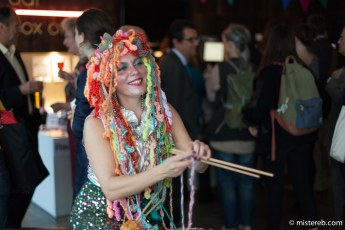 Entertainment at the launch party
