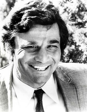 Peter Falk as Columbo. NBC Television, 1973, via wikimedia commons (CC).