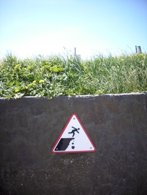 Beware of Cliff Edge sign