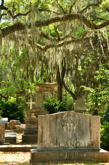 graves in Bonaventure Cemetery