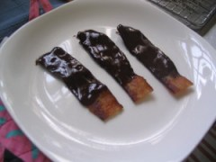 Cocolate-covered bacon