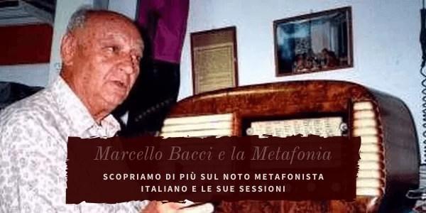 Marcello Bacci, il maggiore esponente della Metafonia in Italia.
