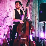 double bassist on stage
