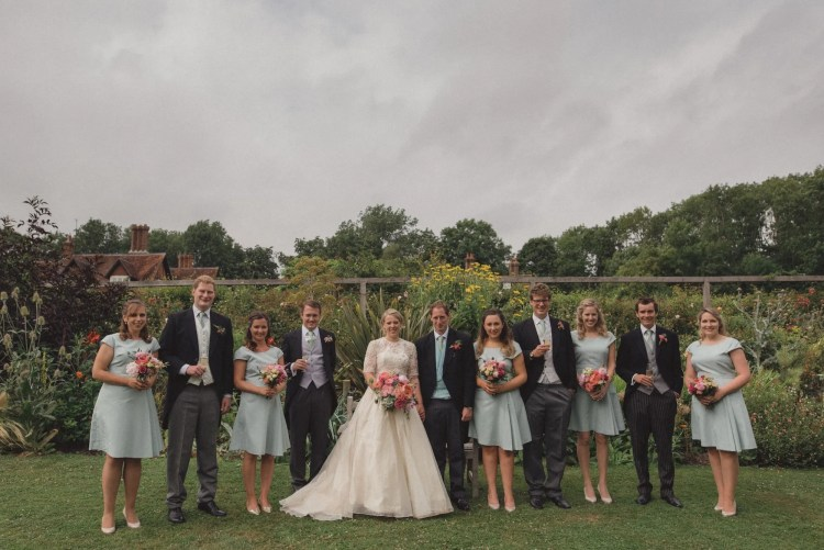 The bridal party at Falconhurst Estate