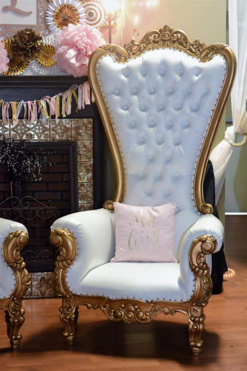 Big White Chair For Baby Shower : white, chair, shower, Baltimore, Throne, Chair, Shower, Tables, Chairs, Edgewood