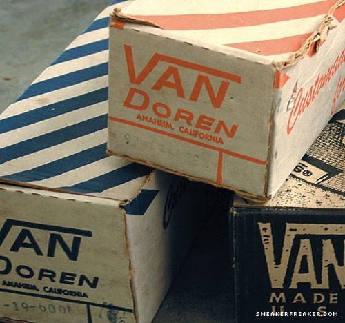 Les premières boîtes à chaussures Vans.