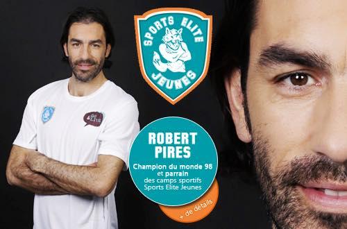 Robert Pirès parrain de Sports Elite Jeunes