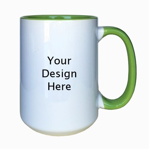 15Oz Green Mug Set of 2