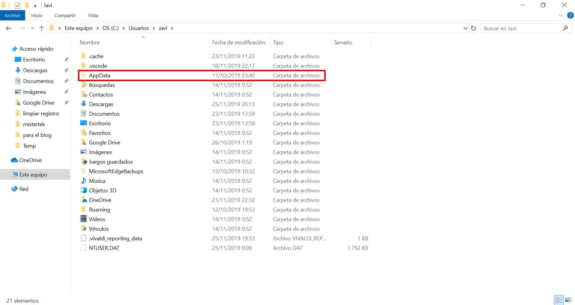 Carpeta AppData ¿Para que sirve? Donde encontrarla en Windows 7. 8 y 10