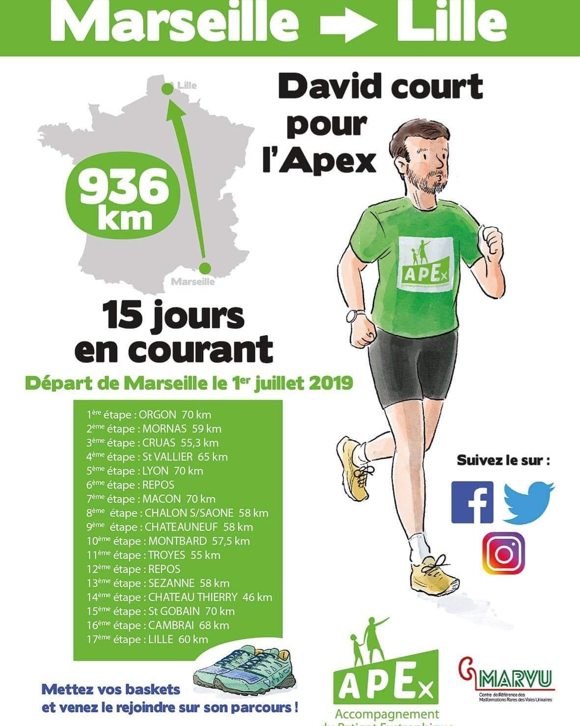 David court pour l'Apex & Mister Universel France le soutient