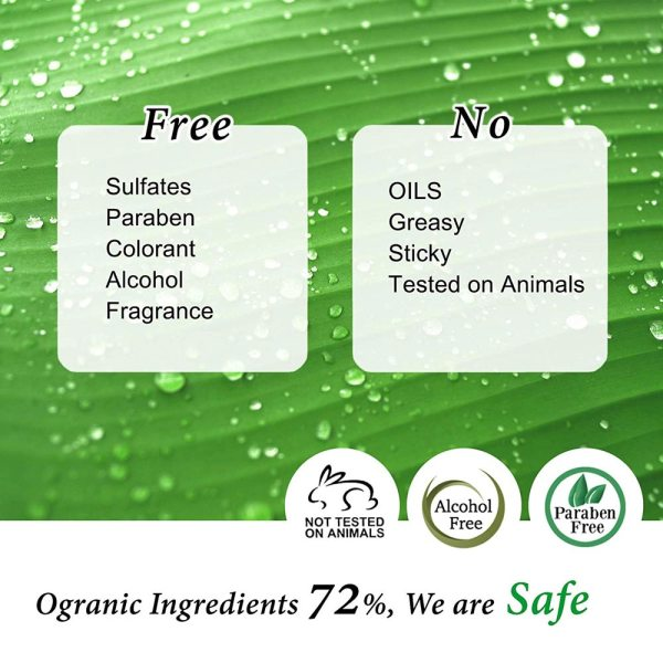 Cos De BAHA Hyaluronic Acid Vitamin B5 Serum 72 percent organic
